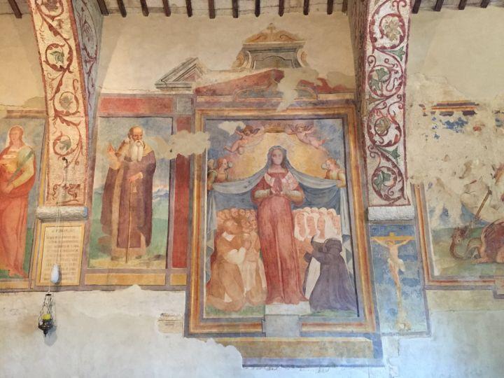 Chiesa di S. Bartolomeo, XIII sec., affresco, Madonna dei raccomandati
