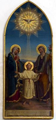 Sacra Famiglia, tela di A. Franchi, fine XIX sec.