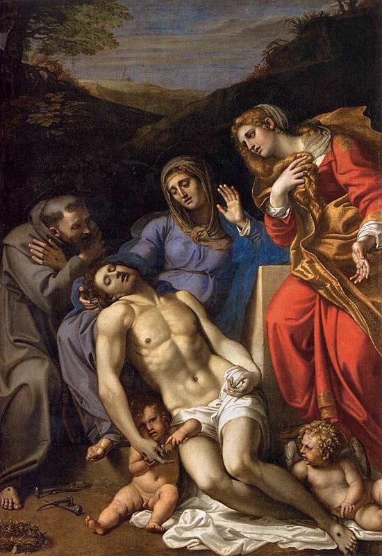 Pieta di A. Carracci
