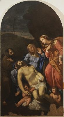 Pietà, scuola del Carracci, XVI sec.